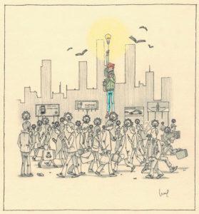 David Porcel dibujo VictorGonzalez Artículo Revista Imán Número 20